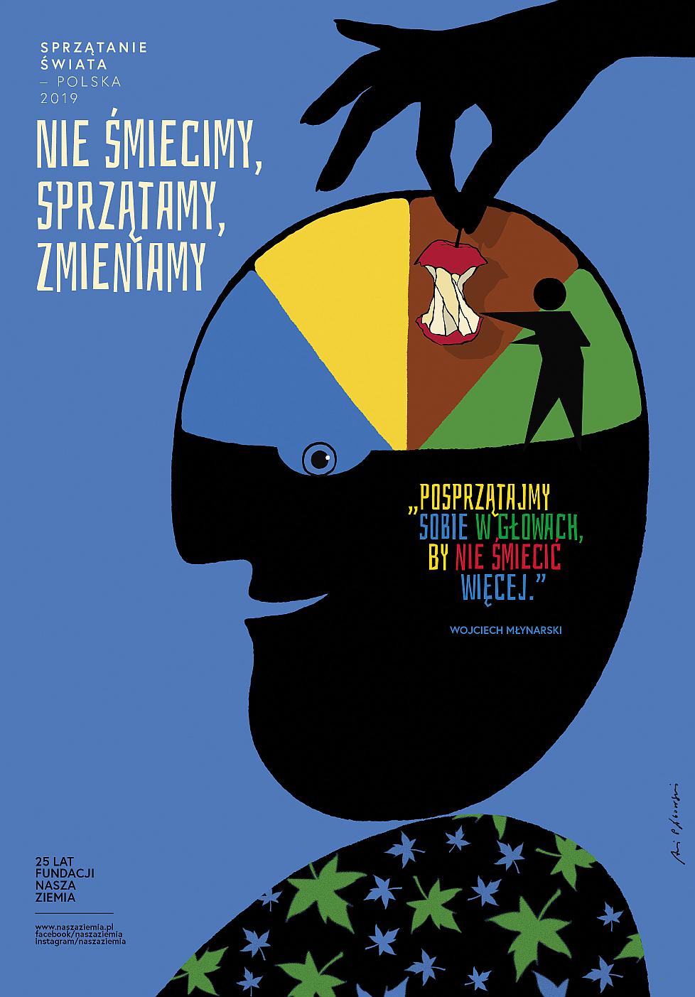Plakat Akcji Sprzątanie świata - Polska 2019