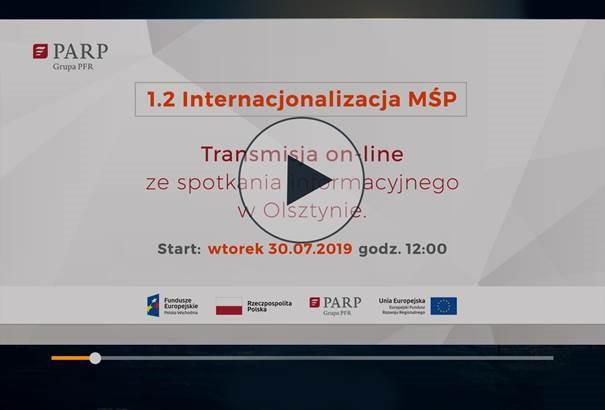 Transmisja on-line ze spotkania informacyjnego w                 Olsztyńskim Parku Naukowo-Technologicznym