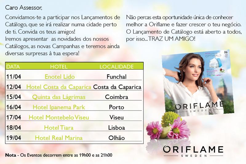 Convite Oriflame